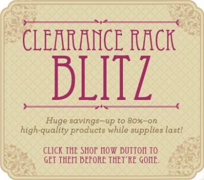 Clearance Rack Blitz Dec 15-Jan 3
