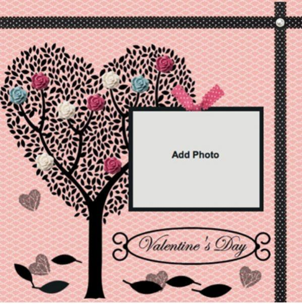 Valentines Day Scrapbook Page
