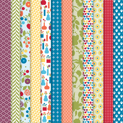 125409 Summer Smooches Designer Series Paper