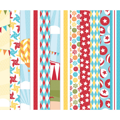 123138 Big Top Birthday Designer Series Paper