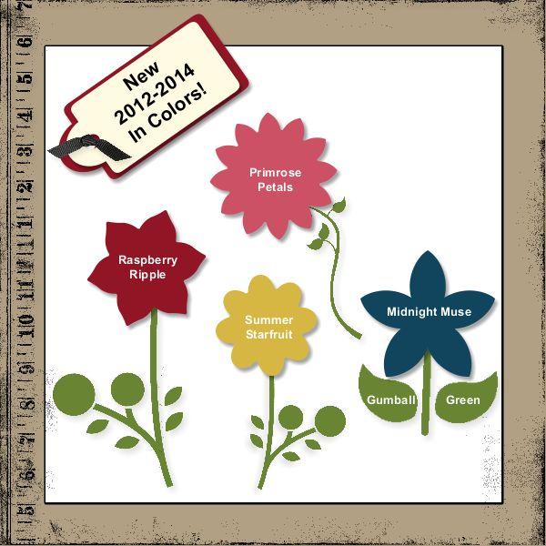 New 2012-2014 In Colors from Stampin' Up!