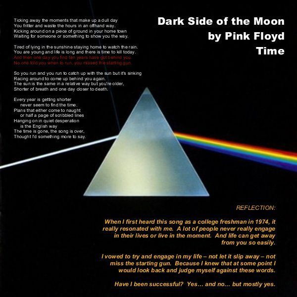 Dark Side of the Moon journaling page