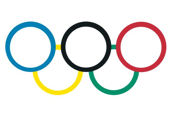 Olympic rings, Step B: with white centers