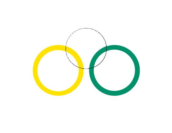 Olympic rings, Step D: center of top ring