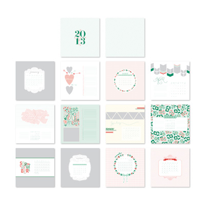 131212 Pencil It In 2013 Calendar Template