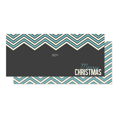 131469 Chevron Christmas Greeting Card Template