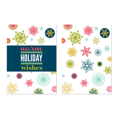 131470 Snowflake Wishes Greeting Card Template