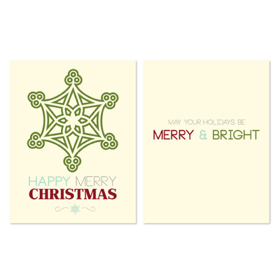 131473 Happy Merry Greeting Card Template