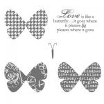 Butterfly Prints - Clear-Mount Stamp (120738)